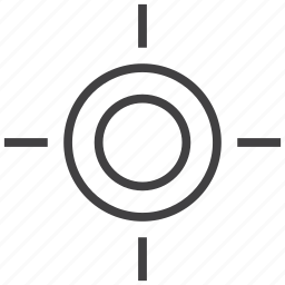 aim, goal, office, range, target, tool, tools icon