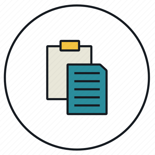 clipboard, copy, file, paste icon
