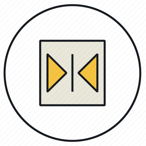 centre, horizontal, objects icon