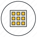 display, grid, toggle icon