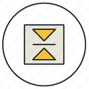 centre, objects, vertical icon