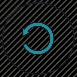 data, refill, refresh, reload, restore, rotate, update icon