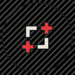 corners, diagonal icon