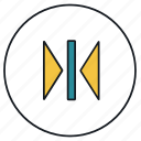editor, flip, horizontal, mirror icon