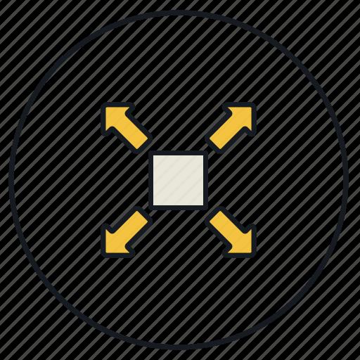 enlarge, expand, full, fullscreen, maximize, open, screen icon