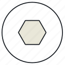 figure, geometry, hexagon, polygon icon