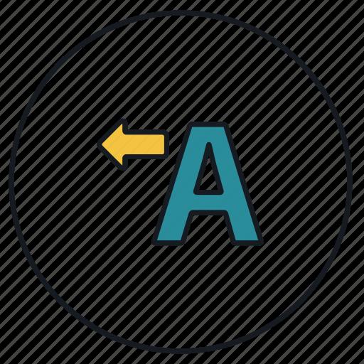 font, text, textbox, type icon