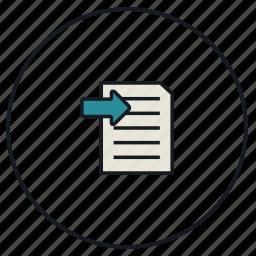 file, import icon