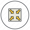 minimize, reduce, reduction icon