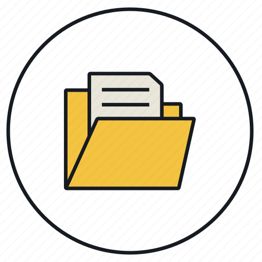 folder, from, open icon