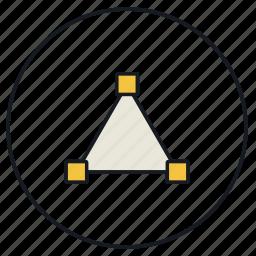 create, creative, design, draw, strokes, triangle icon