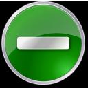 circle, green, minus