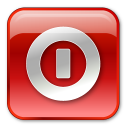 box, red, shutdown, turn off icon