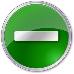 circle, green, minus icon