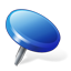 blue, location, pin icon