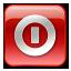 box, red, shutdown, turn off icon