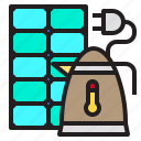 battery, electric, energy, kettle, power
