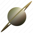 astronomy, planet, saturn, solar, system icon
