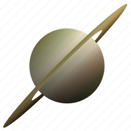 astronomy, planet, saturn, solar, system icon