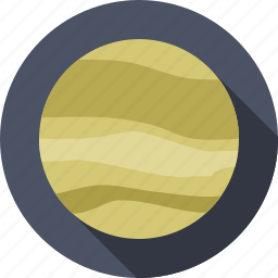 jupiter, planet, solar system, space icon