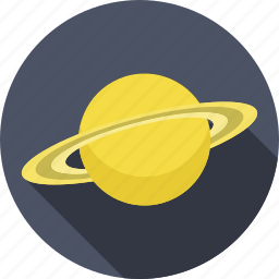 planet, saturn, solar system, space icon