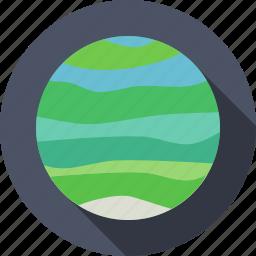 planet, solar system, space, uranus icon