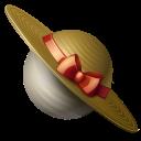saturn, planet, hat