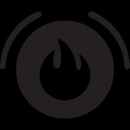 alarm, fire icon
