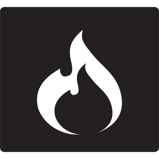 fire, flame, hot, place icon