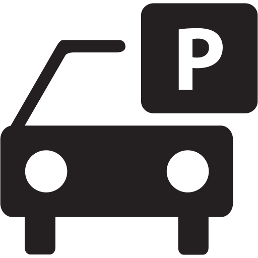 car, packing, parking, sign, vehicle icon