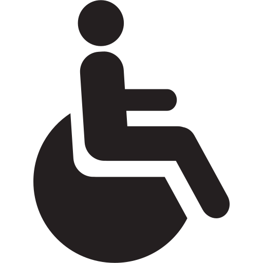 accessible, disability, disable, disabled, handicap, person, wheelchair icon