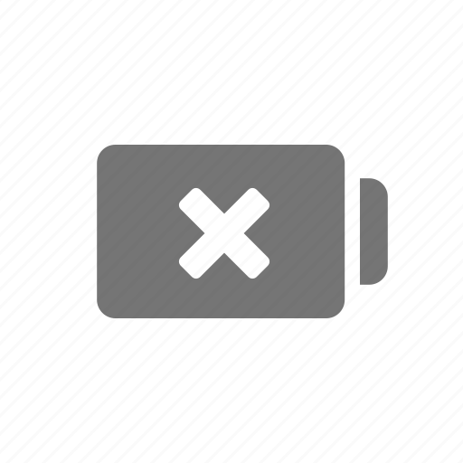 battery, battery low, error, low, reject icon