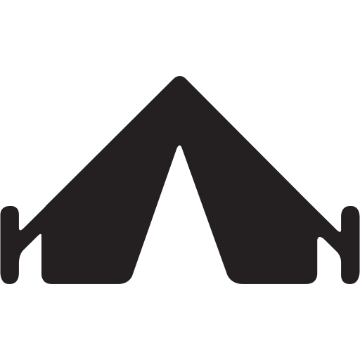 camp, camping, gear, outdoors, preferences, settings, tent icon