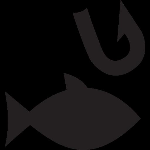 animal, fish, fishing, hook, swimming icon