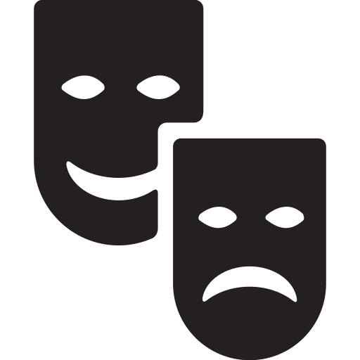 entertainment, film, movie, theater, theatre icon