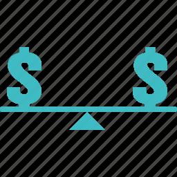 balance, fair, fair price, fixed, fixed price, price icon