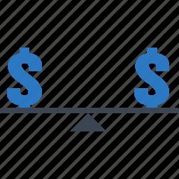 balance, fair, fair price, fixed, price icon