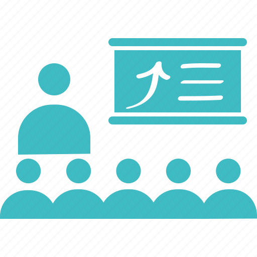coaching, conference, lecture, meeting, presentation, studing, training icon