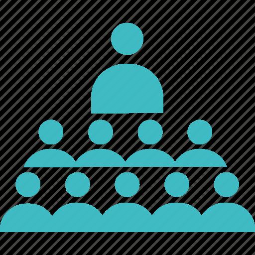 community, group, leader, social, team, training icon