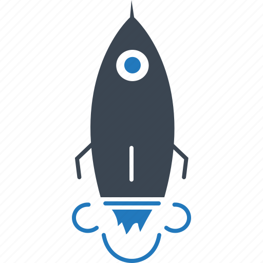 implementation, innovation, launch, mission, promotion, rocket icon