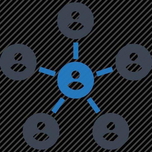 company, connection, hierarchy, network, organization, professionals, union icon