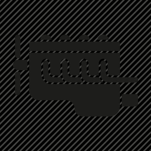 automotive, car, engine, motor block, part, repair, service icon