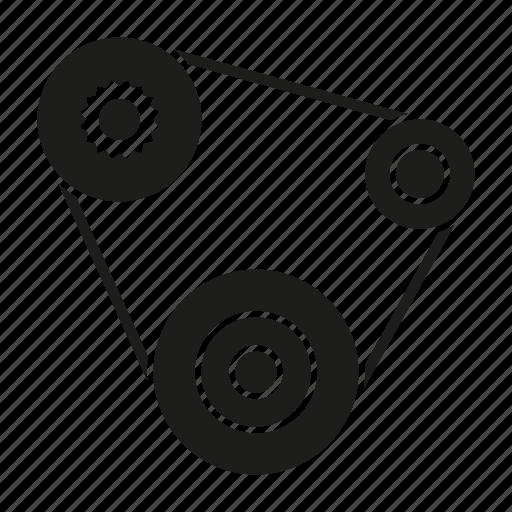 automotive, car, engine belt, fan belt, part, repair, service icon