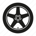 automotive, car, part, repair, rim, service, wheel icon