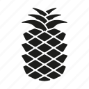 food, freshness, fruit, pineapple, tropical icon