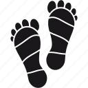 feet, footprint, health care, massage, reflexology, spa, wellness icon