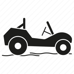 beach, beach buggy, dune buggy, holidays, summer, vacations, vehicle icon
