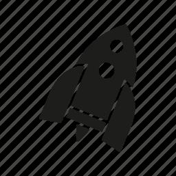 children, rocket, spaceship, starship, toy icon