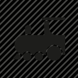children, locomotive, railway, steam train, toy, train, transport icon