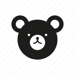 animal, bear, children, plush toy, teddy, toy icon